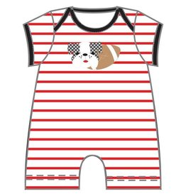 Magnolia Baby Magnolia Baby Love Bulldog Applique Playsuit