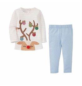 Mud Pie Mud Pie Reindeer Tunic and Leggings