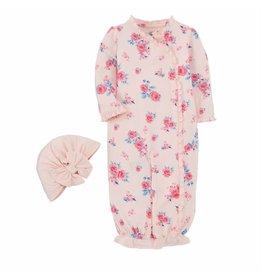 Mud Pie Mud Pie Little Bloom Gown Hat Set