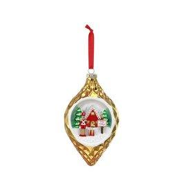 Demdaco Demdaco Blown Glass Toy Village Diorama Ornament