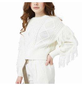 Habitual Girl Habitual Diana Pullover Fringe Sweater