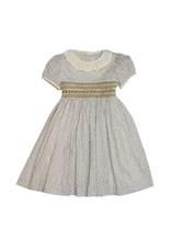 Luli & Me Luli and Me Smocked Dress w/Lace Ruffle Girls