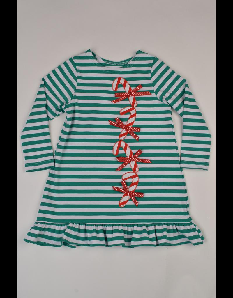 Funtasia Too Funtasia Too Knit Dress Candy Canes Girl