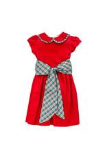 Bailey Boys Bailey Boys Holly Plaid/Red Cord Empire Dress