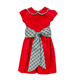 Bailey Boys Bailey Boys Holly Plaid/Red Cord Empire Dress