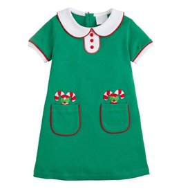 Little English Little English Applique Candy Cane Dress