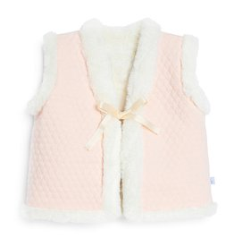 Bella Bliss Bella Bliss Reversible Quilted Jersey Vest w/ Faux Fur