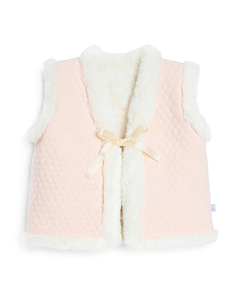 Bella Bliss Bella Bliss Reversible Quilted Jersey Vest w/ Faux Fur
