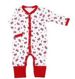 Magnolia Baby Magnolia Baby Lil' Firetruck Printed Playsuit