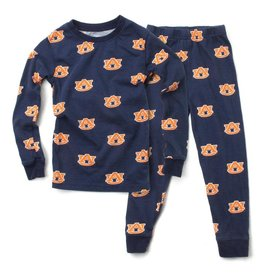 Wes and Willy Wes and Willy Aub Navy Print LS PJ Midnight