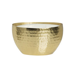 the soi company Soy Essentials Brass Oval Hammered Bowl 180z
