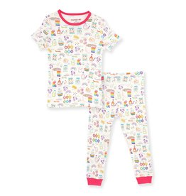 Magnetic me Magnetic Me Rainbow Spin 2pc pajamas