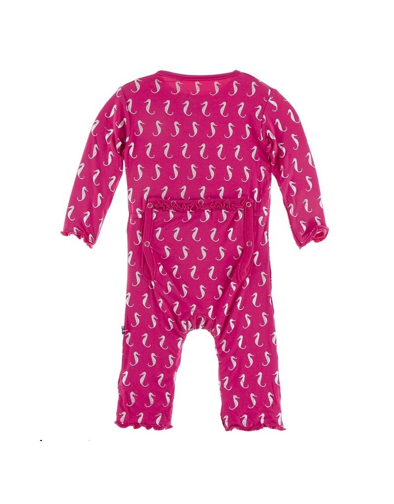 KicKee Pants Kickee Pants Print Muffin Ruffle Coverall With Zipper