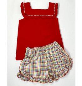 True Brands True Basic Ruffle Shirt Set