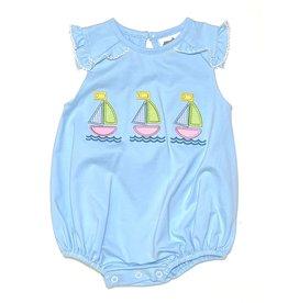 True Brands True Sailboat Applique Girls Bubble