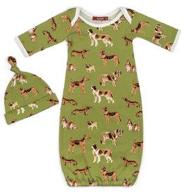 Milkbarn LLC Milkbarn Organic NB Gown & Hat Set
