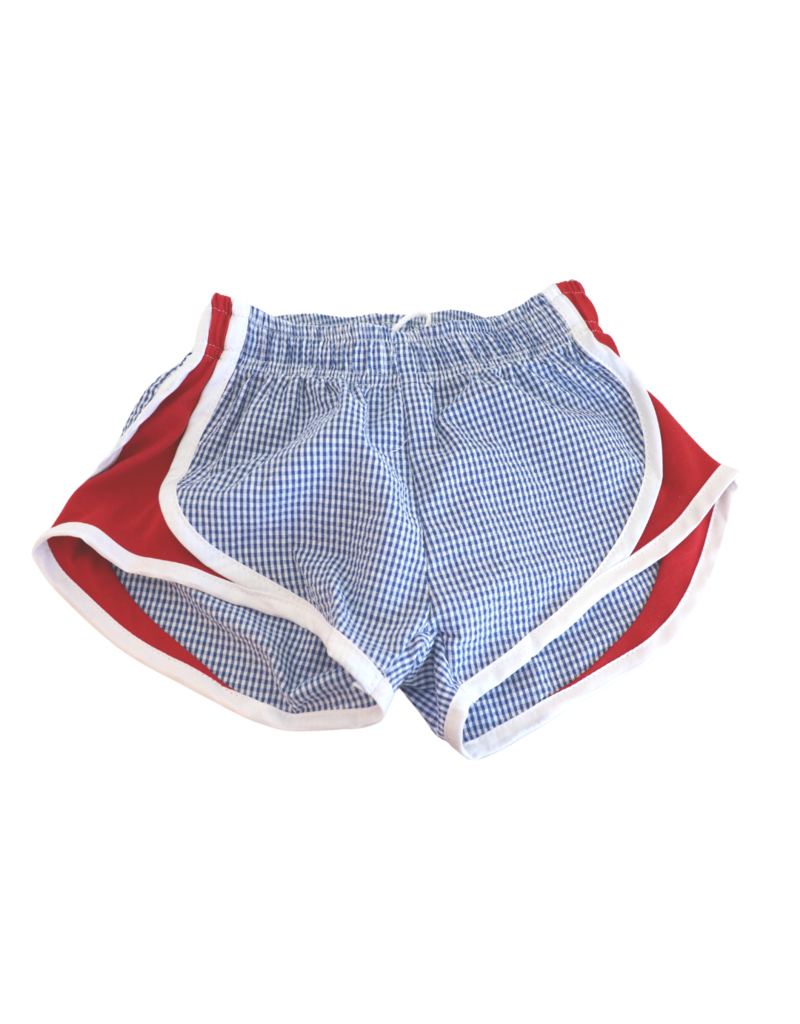 Funtasia Too Funtasia Too Navy Check Shorts, Red Side
