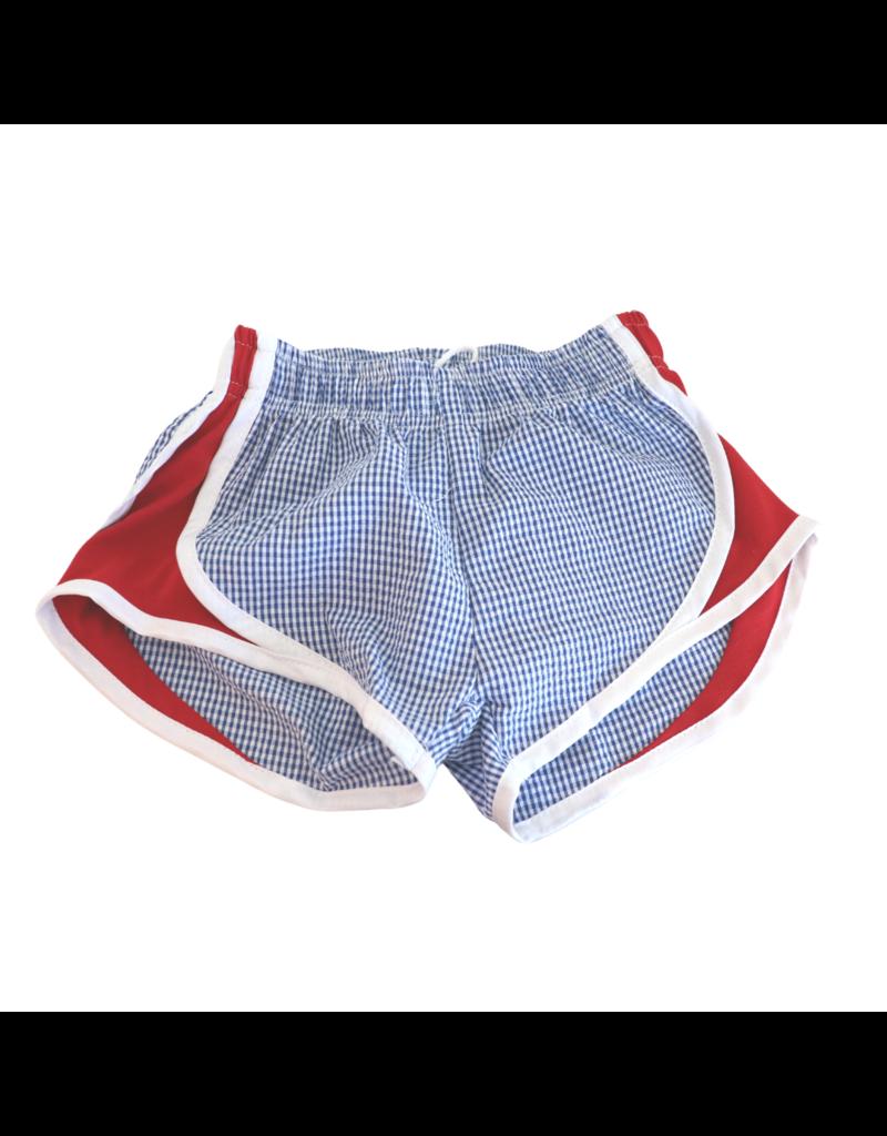 Funtasia Too Funtashia Too Navy Check Shorts, Red Side