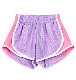 Funtasia Too Funtasia Too Lavender Check Shorts, Pink Side