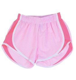 Funtasia Too Funtasia Too Pink Check Shorts, Pink side