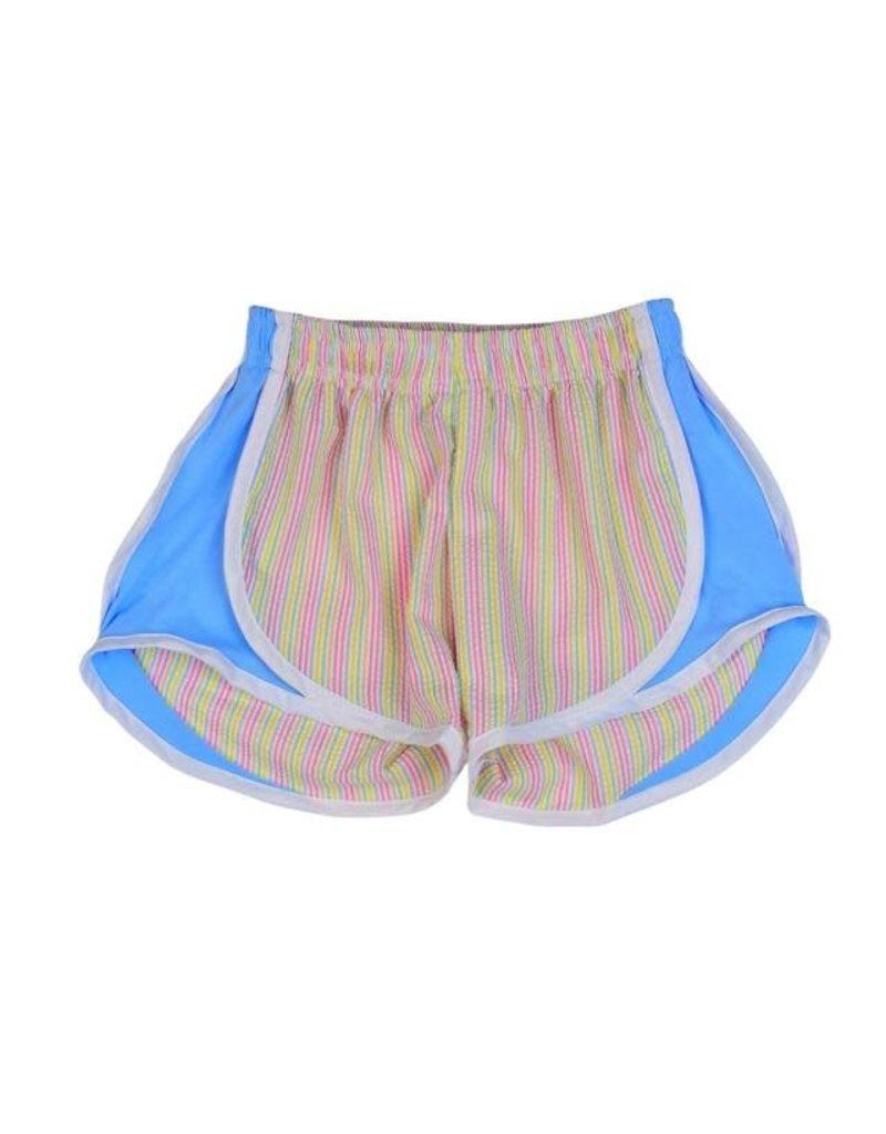 Funtasia Too Funtasia Too Multi Stripe Shorts, Blue Side