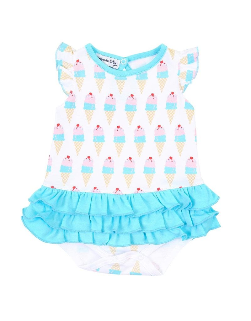 Magnolia Baby Magnolia Baby Two Scoops Print Ruffle Flutters Bubble