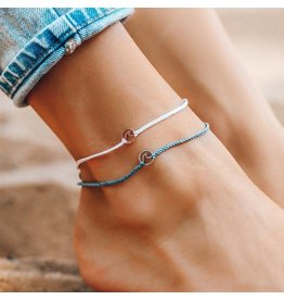 Pura Vida Pura Vida Mini Wave Charm Anklet