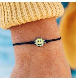 Pura Vida Pura Vida Enamel Happy Face Bracelet
