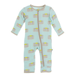 KicKee Pants KicKee Pants Print Coverall with Zipper