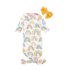 mudpie Mud Pie Rainbow Gown and Headband