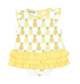 Magnolia Baby Magnolia Baby Printed Ruffle Flutters Bubble
