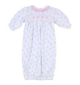 Magnolia Baby Magnolia Baby Smocked Printed Gathered Gown
