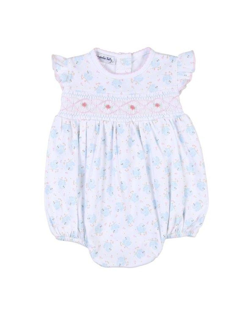Magnolia Baby Magnolia Baby Smocked Printed Flutters Bubble