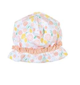 Magnolia Baby Magnolia Baby Vintage Bow Printed Ruffle Hat PK