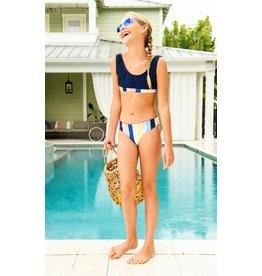 Snapper Rock Snapper Rock Opti Stripe Scoop Crop Bikini