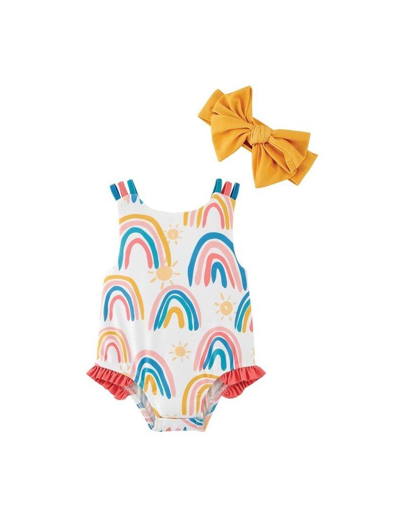 Mud Pie Mud Pie Rainbow Swimsuit with Headband