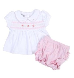 Magnolia Baby Magnolia Baby Layla and Lennox Smocked Collared S/S Diaper Cover Set LB