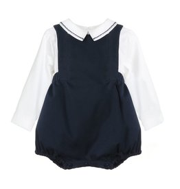 Sophie & Lucas Sophie and Lucas Chinoise Boy Overall- Navy
