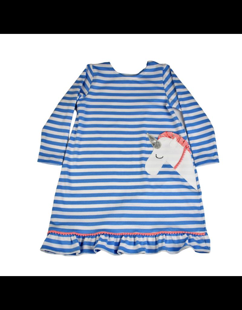 Funtasia Too Funtasia Too Knit Dress Blue- Unicorn