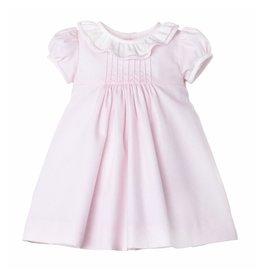 Luli & Me Luli & Me Herringbone Ruffle Dress, Pink