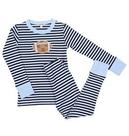 Magnolia Baby Magnolia Baby Football Stripes Long Pajama LB