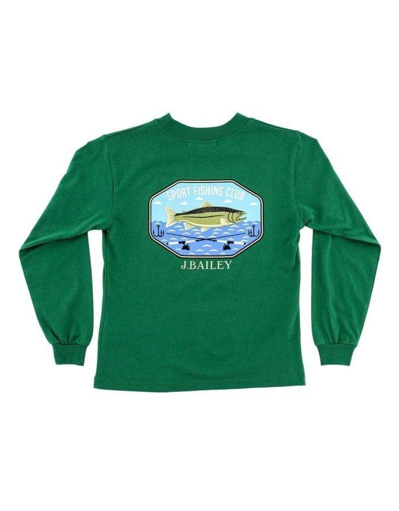 Bailey Boys Bailey Boys Logo Tee, Fishing Club On Green