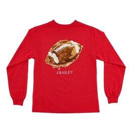 Bailey Boys Bailey Boys Logo Tee, Football On Cayenne