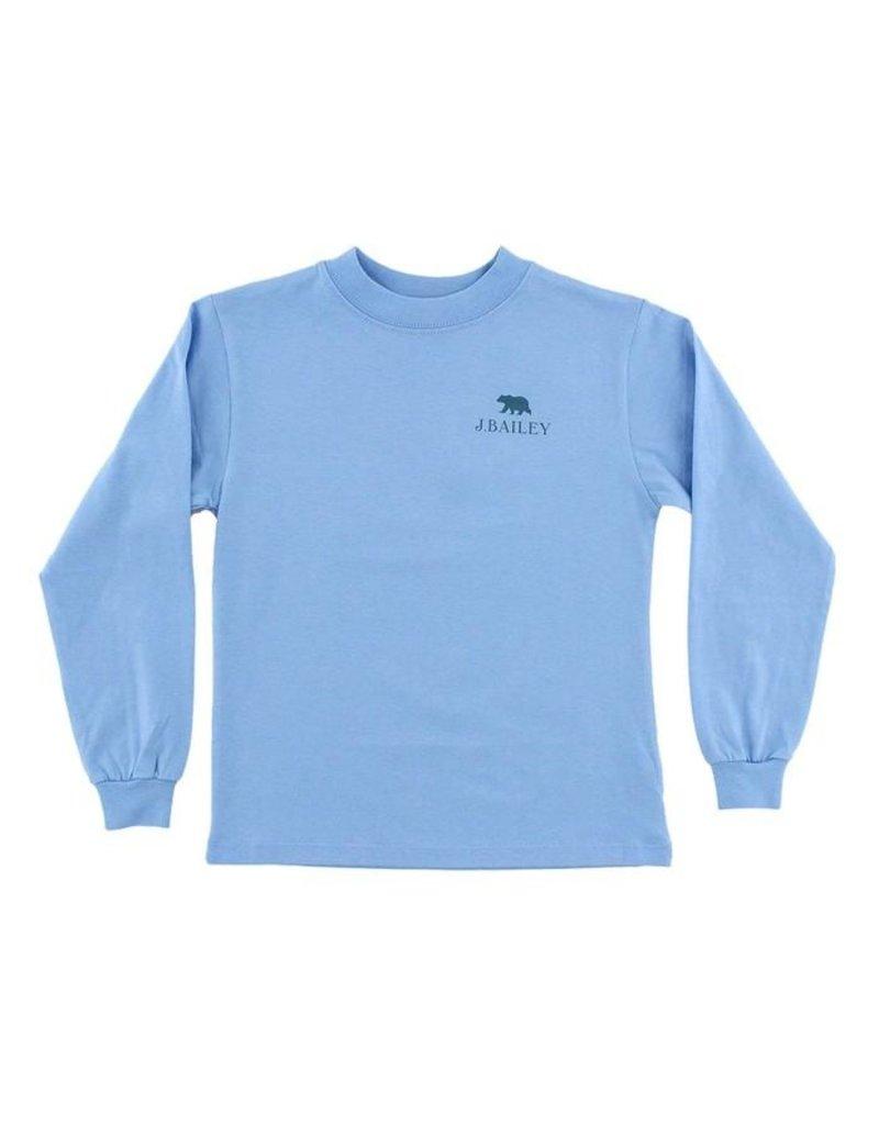 Bailey Boys Bailey Boys Logo Tee- Bear On Lt Blue