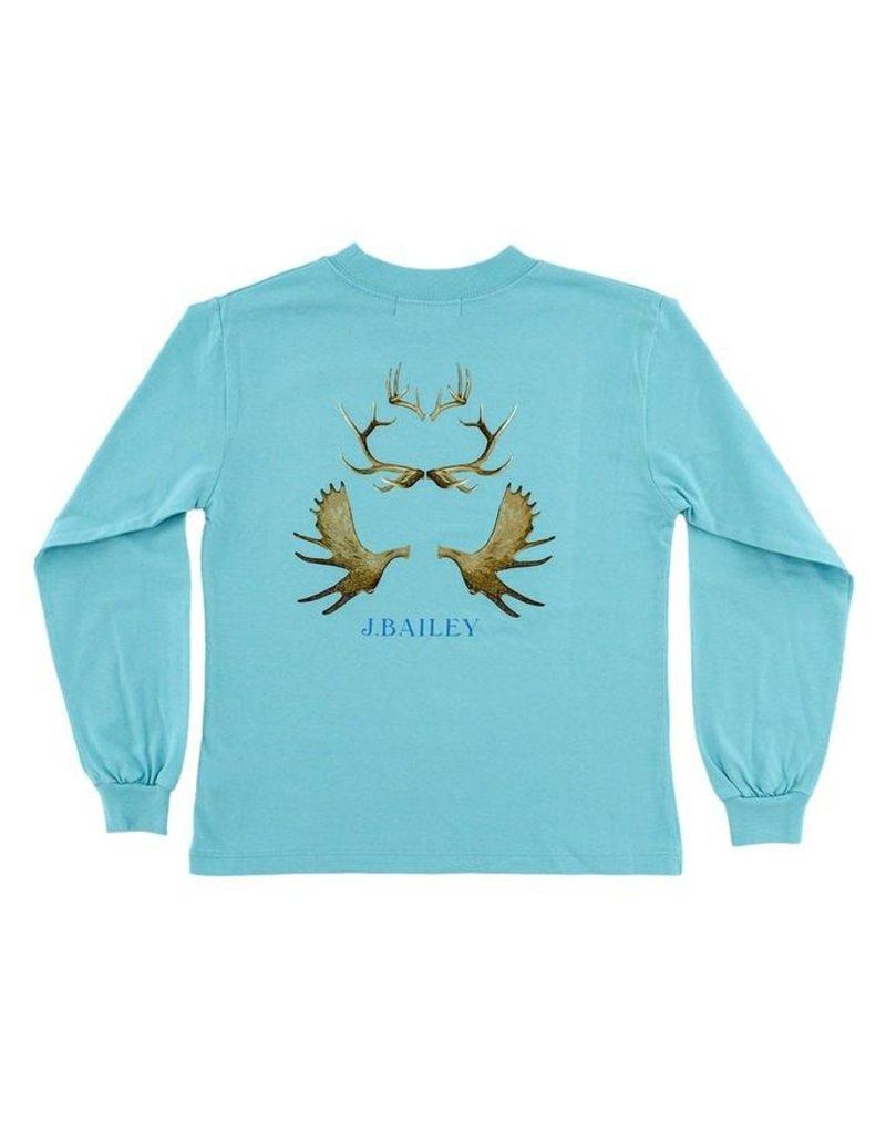 Bailey Boys Bailey Boys Logo Tee- Antlers On Ocean
