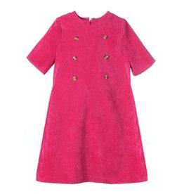 Gabby Gabby Penny Corduroy Dress, Fuschia