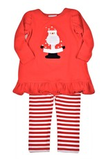 Funtasia Too Funtasia Too Baby Doll Top/ Red Stripe Leggings, Santa