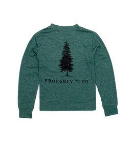Properly Tied Properly Tied Portland Pocket Tee LS Pine Logo Hunter Heather