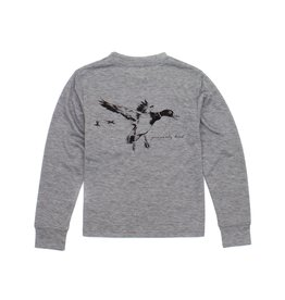 Properly Tied Properly Tied Portland Pocket Tee LS Flying Duck Heather Gray