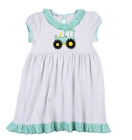 Magnolia Baby Magnolia Baby Tractor Time Applique S/S Toddler Dress NV